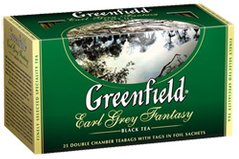 Чай Greenfield Earl Grey Fantasy 25 пакетиков